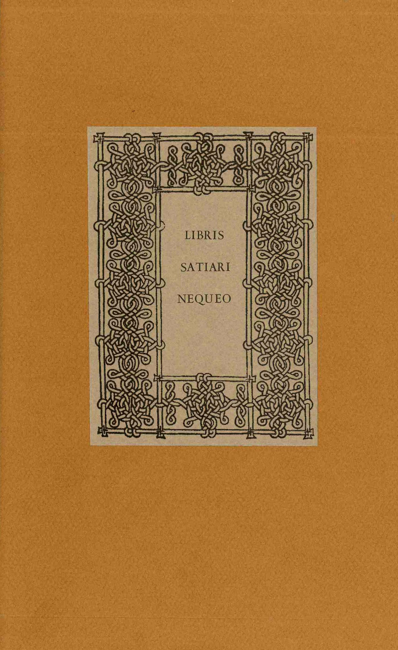 libris satiari nequeo